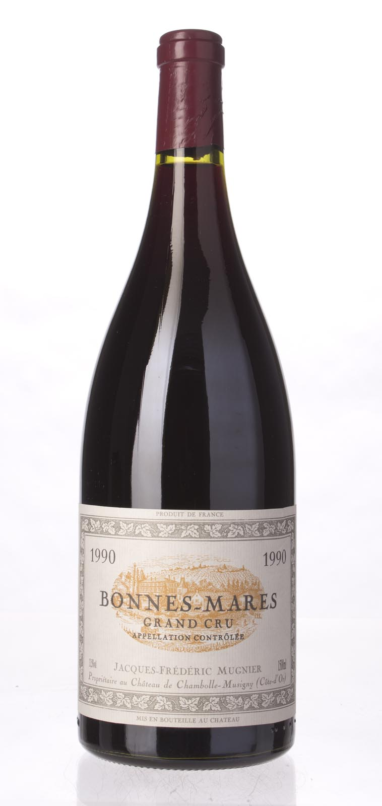 Domaine Jacques Frederic Mugnier Bonnes Mares 1990, 1.5L (BH93) from The BPW - Merchants of rare and fine wines.