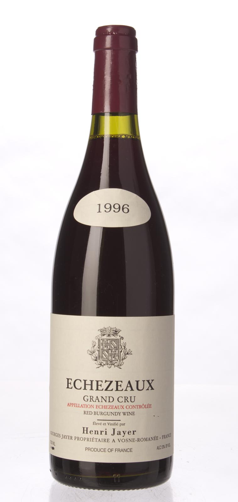 Henri Jayer (Georges Jayer) Echezeaux 1996, 750ml () from The BPW - Merchants of rare and fine wines.
