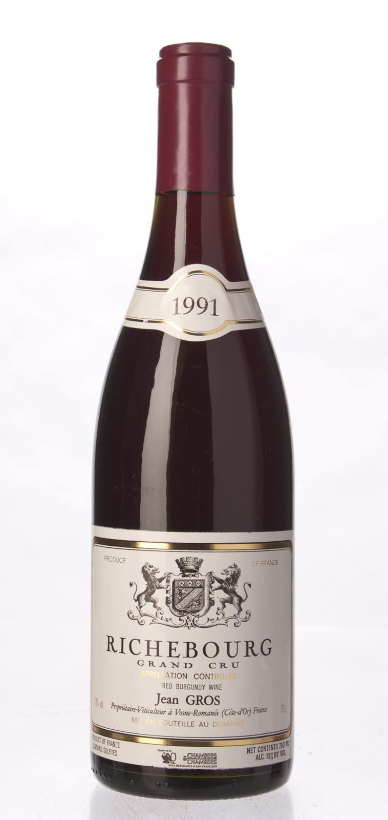 Domaine Jean Gros Richebourg 1991, 750ml (BH94) from The BPW - Merchants of rare and fine wines.