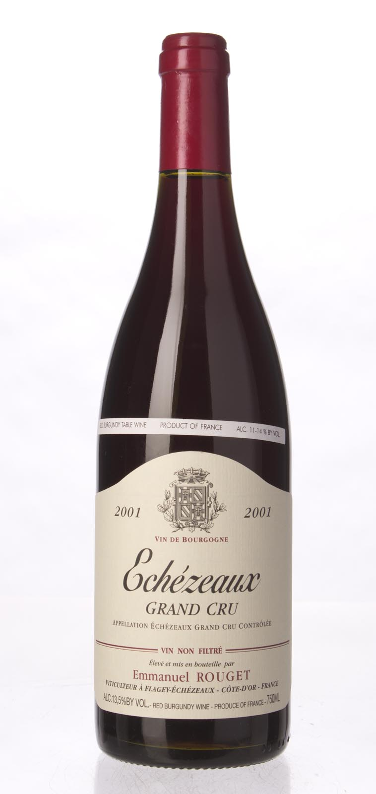 Emmanuel Rouget Echezeaux 2001, 750ml () from The BPW - Merchants of rare and fine wines.