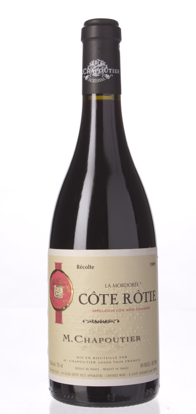 Chapoutier Cote Rotie la Mordoree 1999, 750mL (WA95, WS95) from The BPW - Merchants of rare and fine wines.