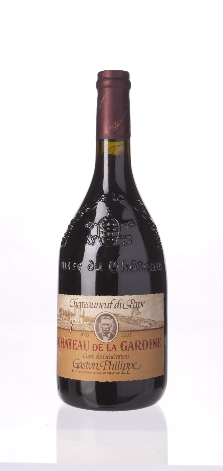 Chateau de la Gardine Chateauneuf du Pape Cuvee des Generations 2003, 750mL (WA92-94) from The BPW - Merchants of rare and fine wines.