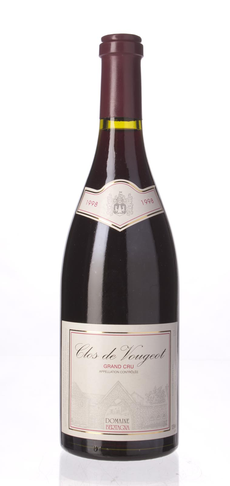 Domaine Bertagna Clos Vougeot 1998, 750mL (WS91) from The BPW - Merchants of rare and fine wines.
