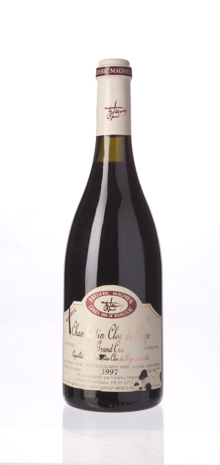 Domaine Frederic Magnien Chambertin Clos de Beze Reserve 1997, 750mL (WA93) from The BPW - Merchants of rare and fine wines.