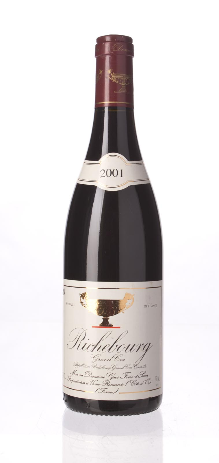 Domaine Gros Frere et Soeur Richebourg 2001, 750mL (WS96) from The BPW - Merchants of rare and fine wines.
