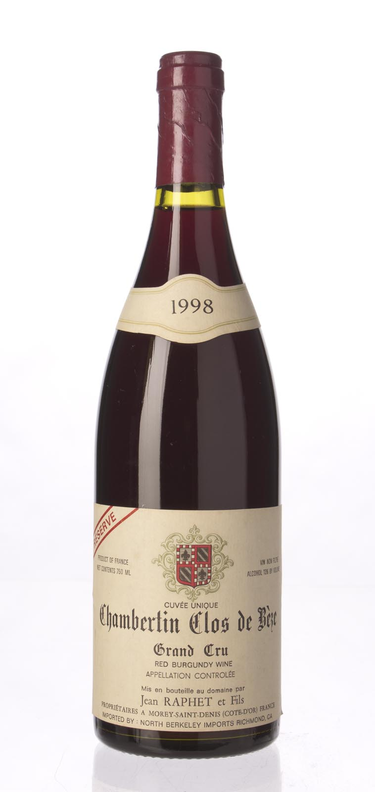 Domaine Jean et Fils Raphet Chambertin Clos de Beze Reserve 1998, 750mL () from The BPW - Merchants of rare and fine wines.