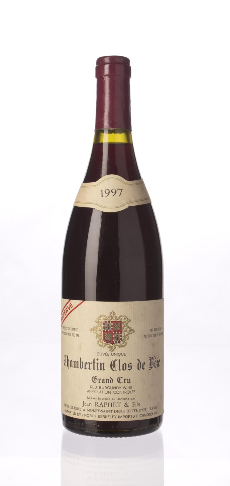 Domaine Jean et Fils Raphet Chambertin Clos de Beze Reserve 1997,  () from The BPW - Merchants of rare and fine wines.