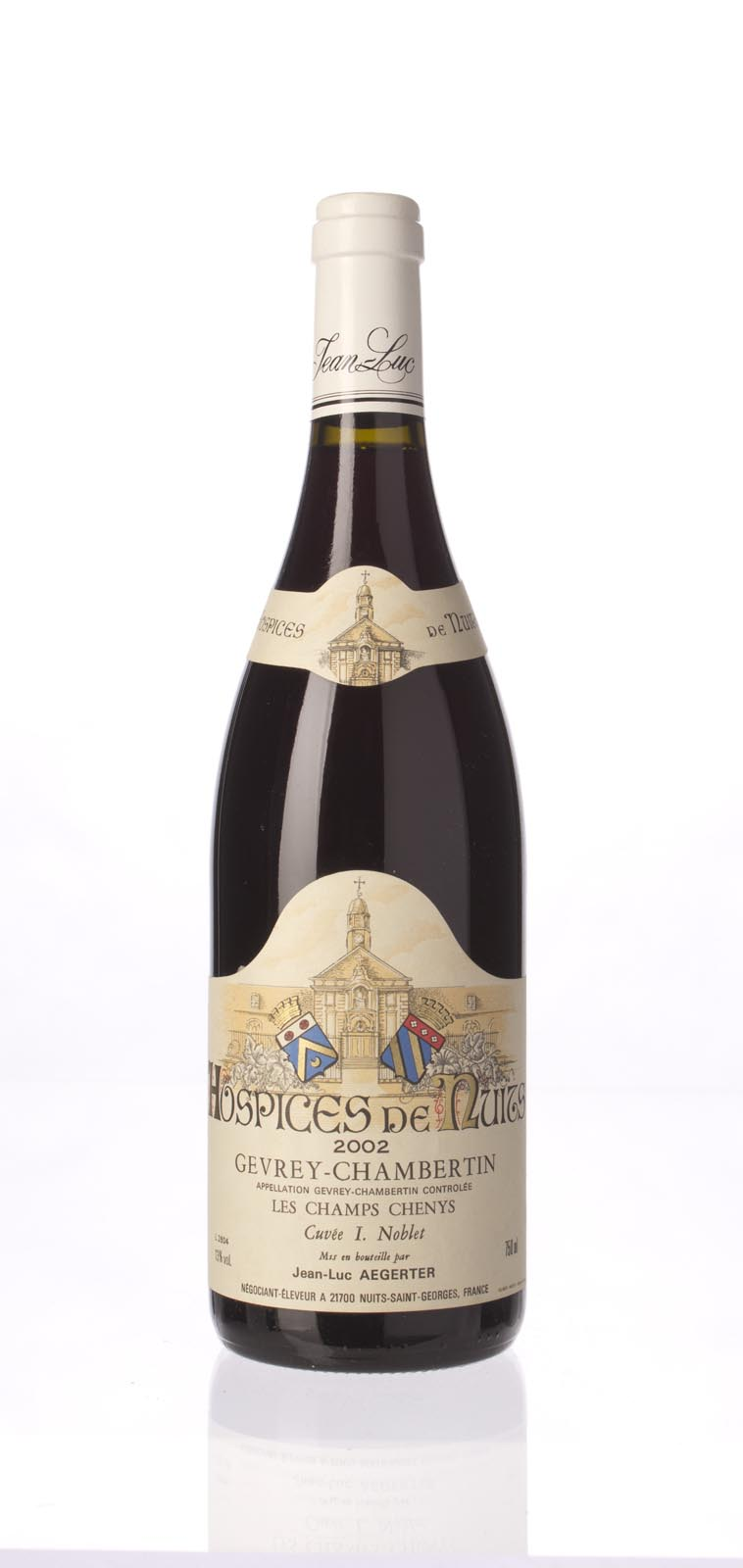 Jean Luc Aegerten Hospices de Nuits Gevrey Chambertin les Champs Chenys Cuvee I Nublet 2002, 750mL () from The BPW - Merchants of rare and fine wines.