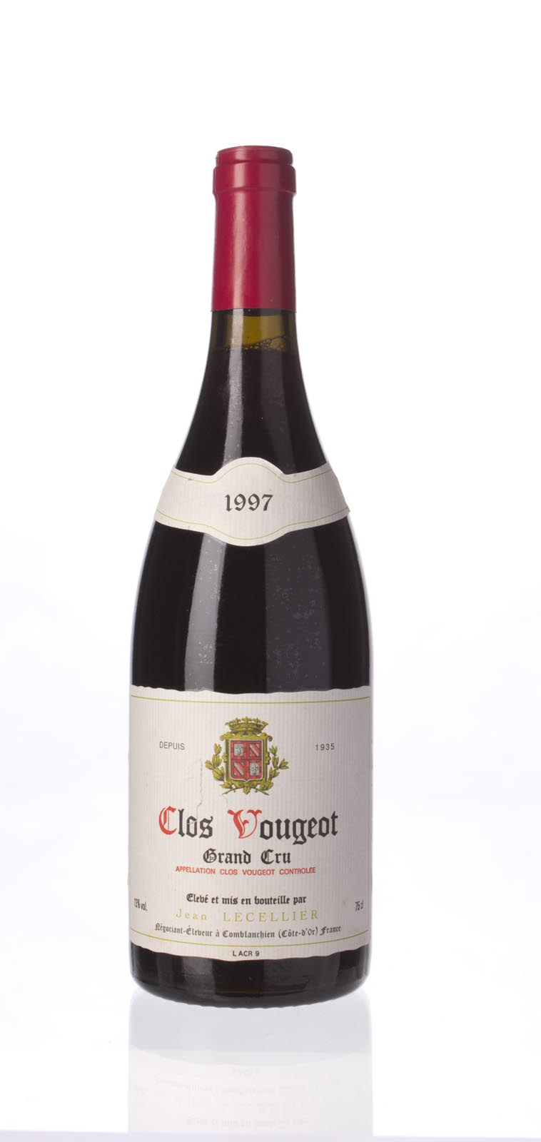 Jean Lecellier Clos Vougeot 1997,  () from The BPW - Merchants of rare and fine wines.