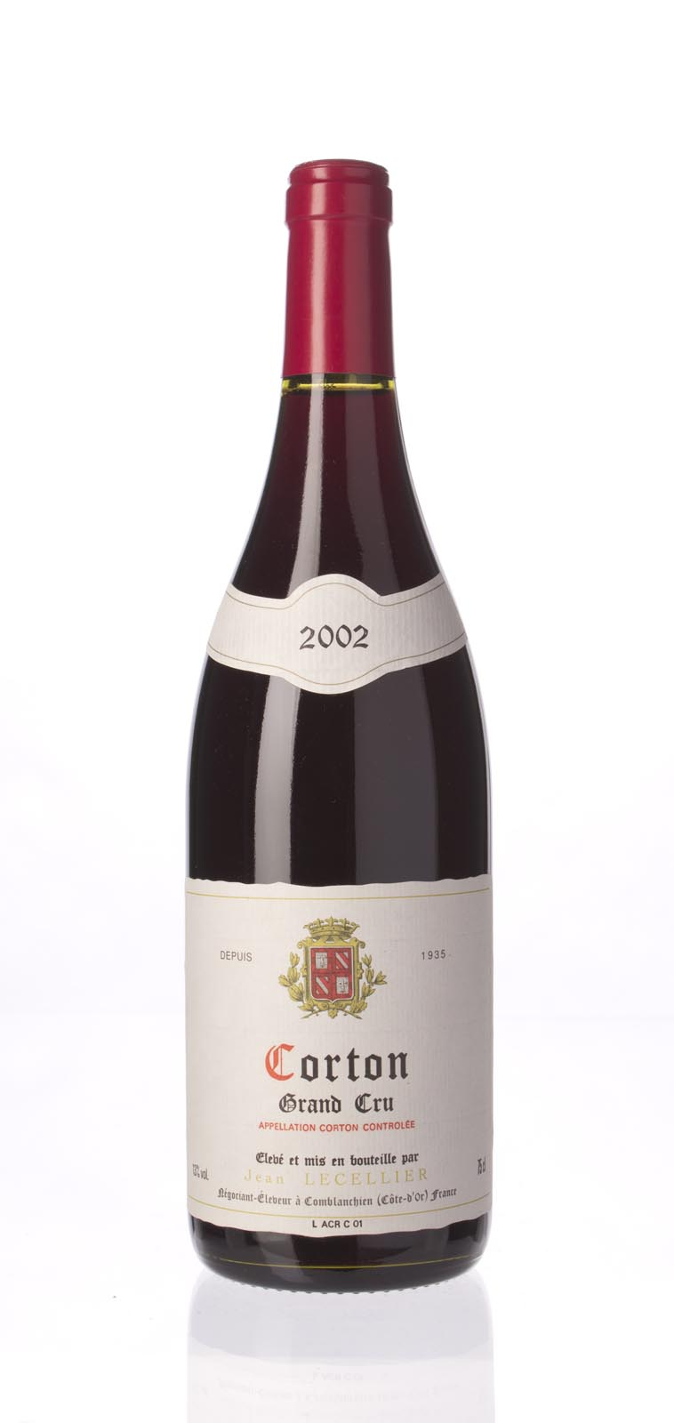 Jean Lecellier Corton 2002, 750mL () from The BPW - Merchants of rare and fine wines.