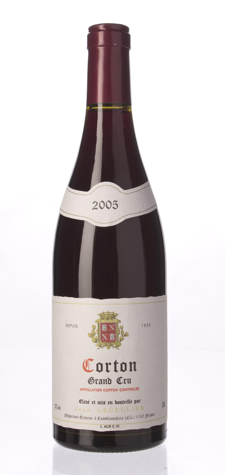 Jean Lecellier Corton 2005, 750ml () from The BPW - Merchants of rare and fine wines.