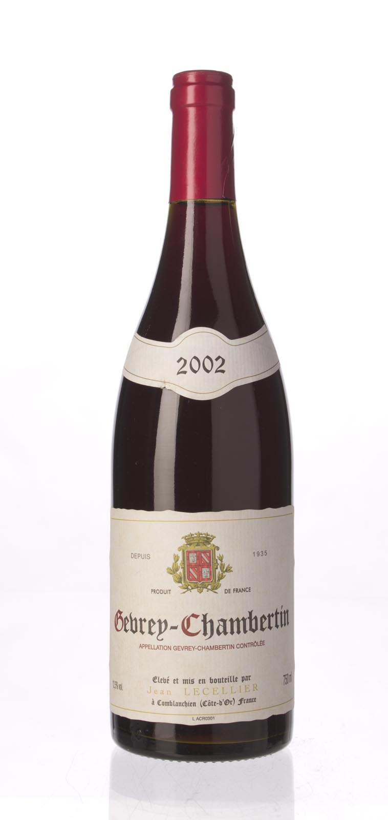 Jean Lecellier Gevrey Chambertin 2002, 750mL () from The BPW - Merchants of rare and fine wines.