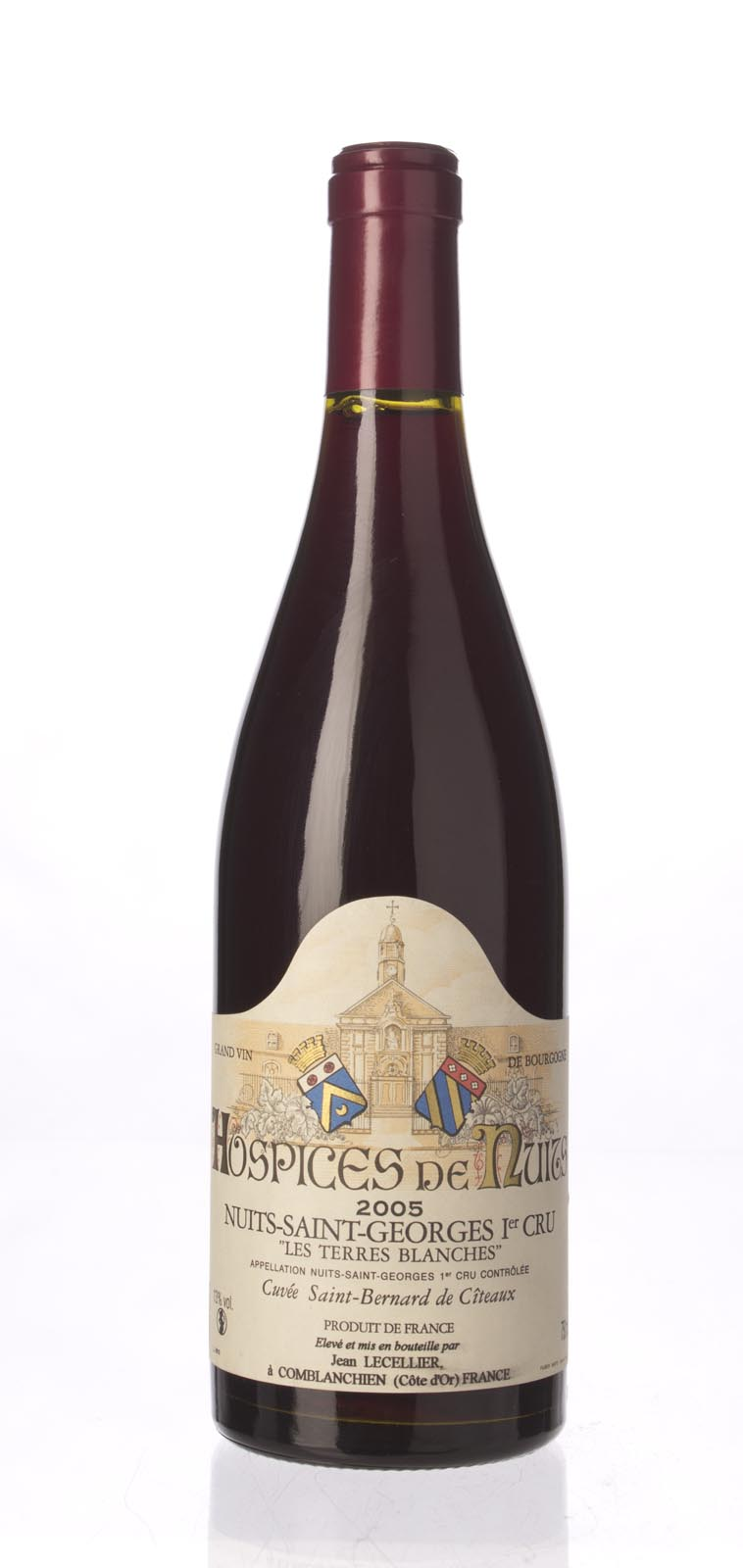 Jean Lecellier Hospices de Nuits Nuits St. Georges les Terres Blanches Cuvee St. Bernard de Citeaux 2005, 750mL () from The BPW - Merchants of rare and fine wines.