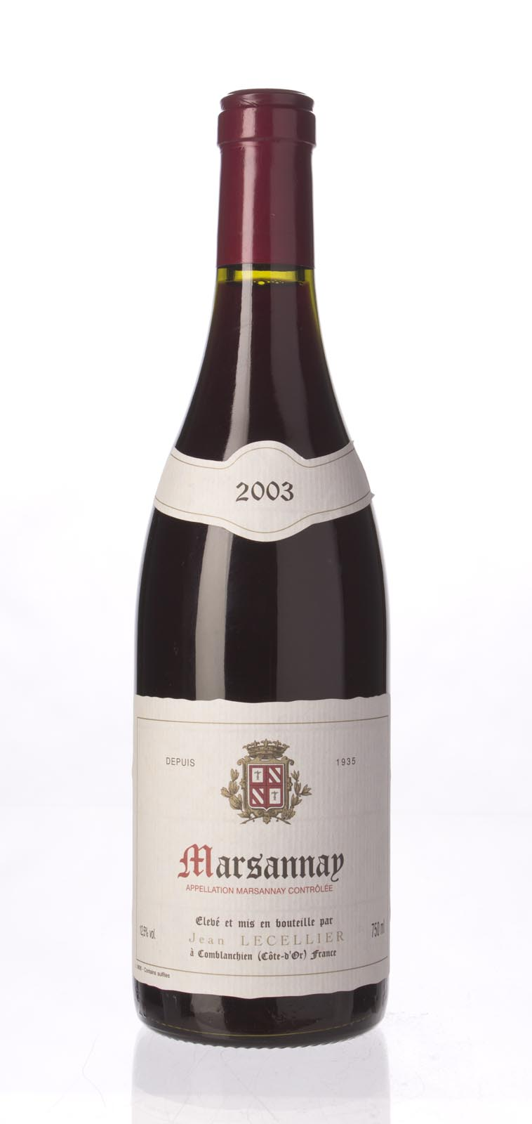 Jean Lecellier Marsannay 2003, 750mL () from The BPW - Merchants of rare and fine wines.