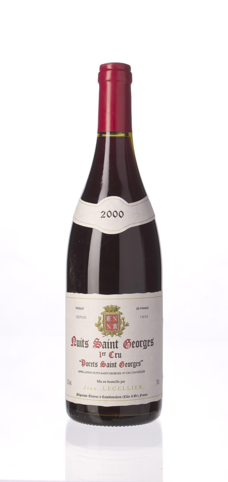 Jean Lecellier Nuits St. Georges les Porets St. Georges 2000, 750ml () from The BPW - Merchants of rare and fine wines.