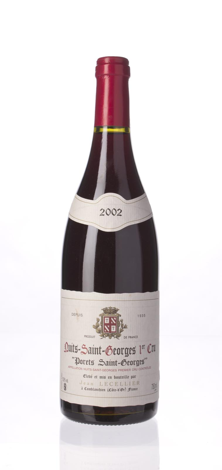 Jean Lecellier Nuits St. Georges les Porets St. Georges 2002, 750mL () from The BPW - Merchants of rare and fine wines.