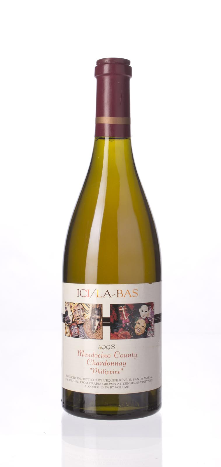 Ici La Bas Chardonnay Philippine 1998, 750mL () from The BPW - Merchants of rare and fine wines.