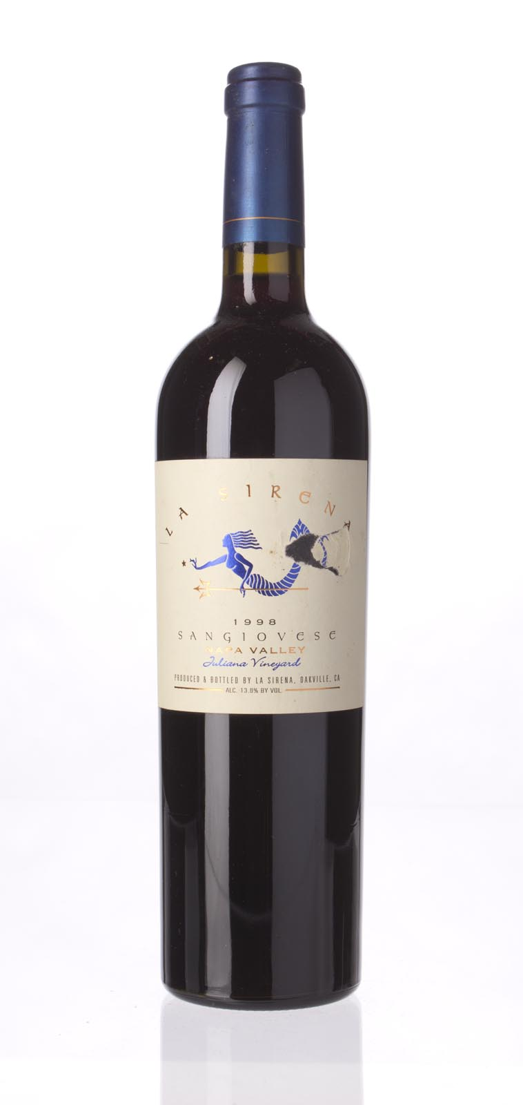 La Sirena Sangiovese Juliana Vineyard 1998, 750mL () from The BPW - Merchants of rare and fine wines.