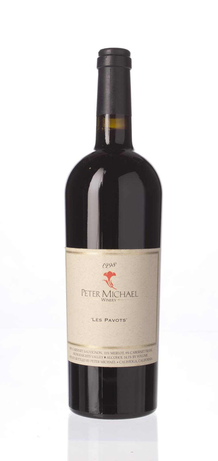 Peter Michael Winery Proprietary Red Les Pavots 1998, 750mL (WA89) from The BPW - Merchants of rare and fine wines.
