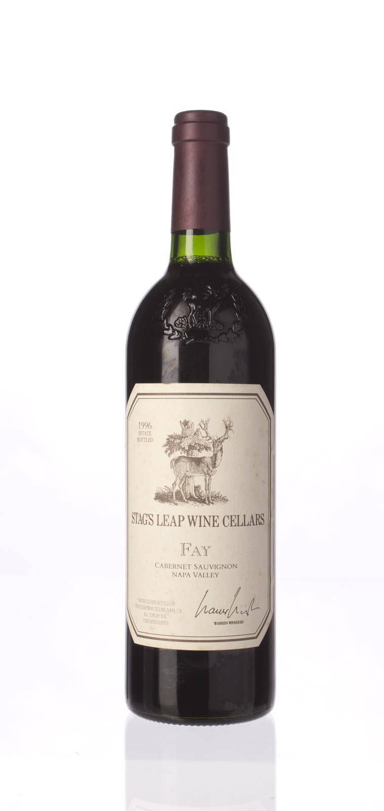 Stag`s Leap Wine Cellars Cabernet Sauvignon Fay Vineyard 1996, 750mL () from The BPW - Merchants of rare and fine wines.