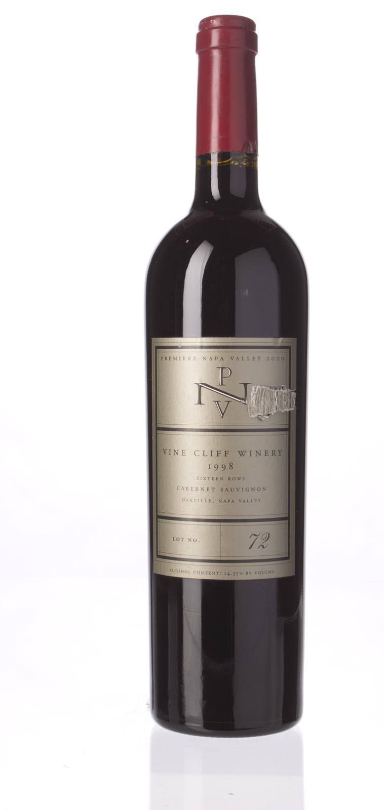 Vine Cliff Cabernet Sauvignon Private Stock 16 Rows Limited Edition 1998, 750mL (WA91) from The BPW - Merchants of rare and fine wines.