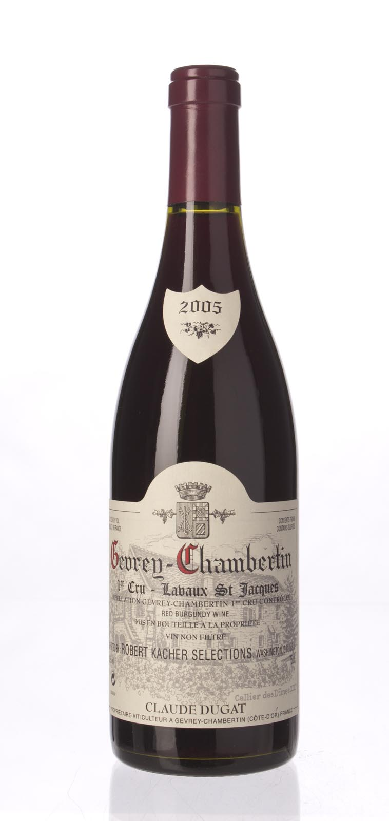 Domaine Claude Dugat Gevrey Chambertin Lavaux St. Jacques 2005, 750mL (WA94) from The BPW - Merchants of rare and fine wines.