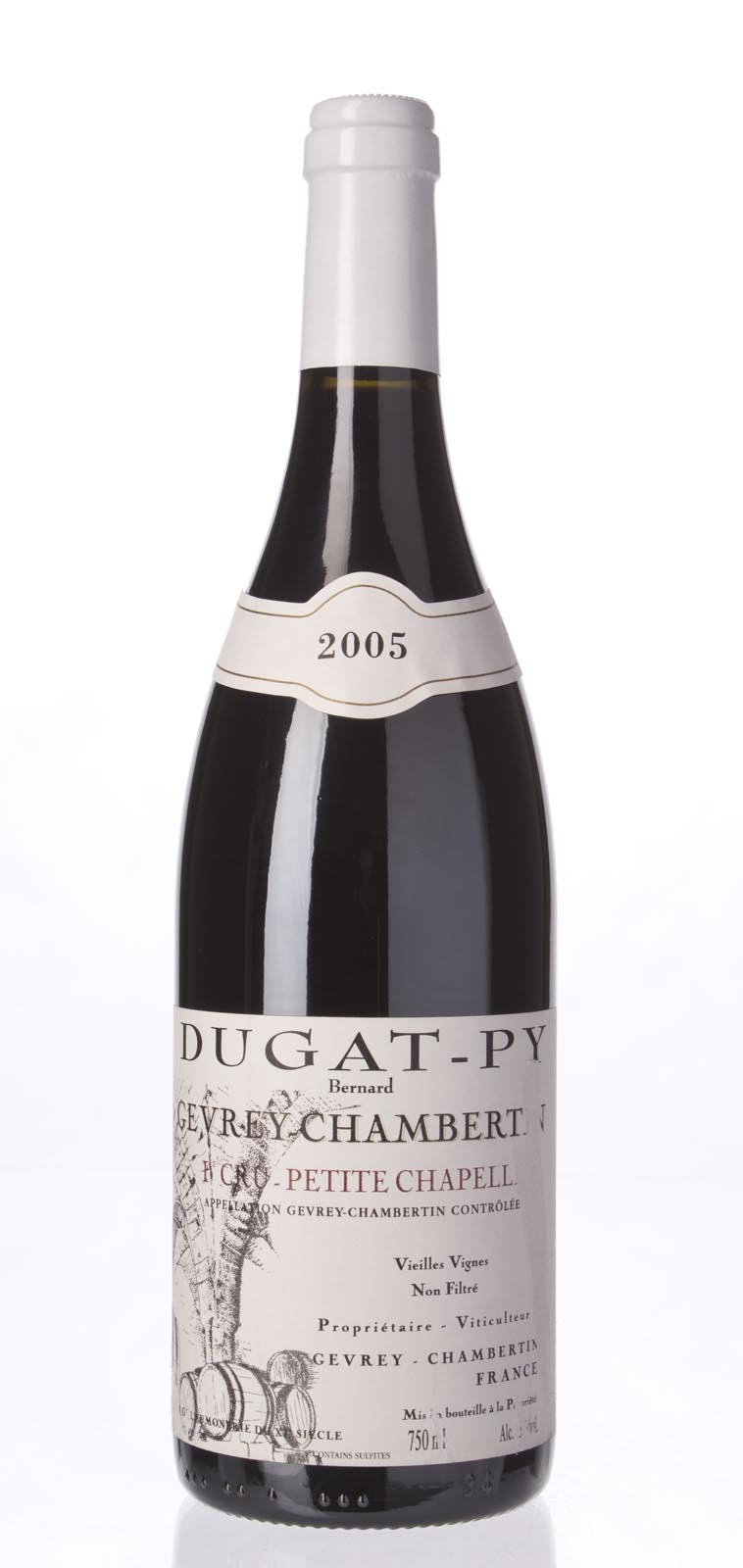 Domaine Dugat Py Gevrey Chambertin Petite Chapelle Vieilles Vignes 2005, 750mL (BH93, WA92-93) from The BPW - Merchants of rare and fine wines.