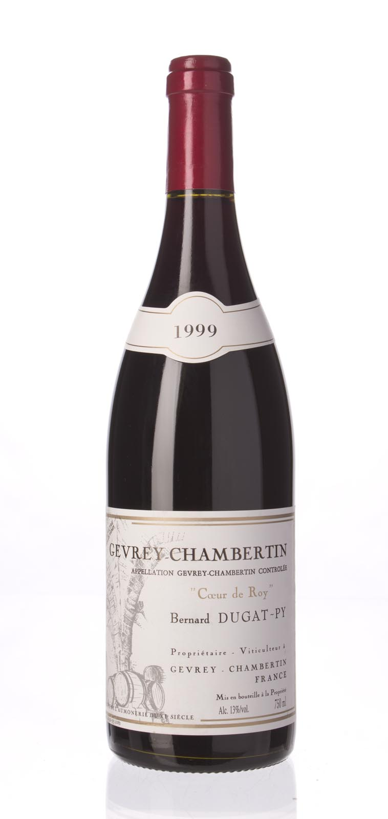 Domaine Dugat Py Gevrey Chambertin Coeur du Roi 1999, 750mL (WS92) from The BPW - Merchants of rare and fine wines.