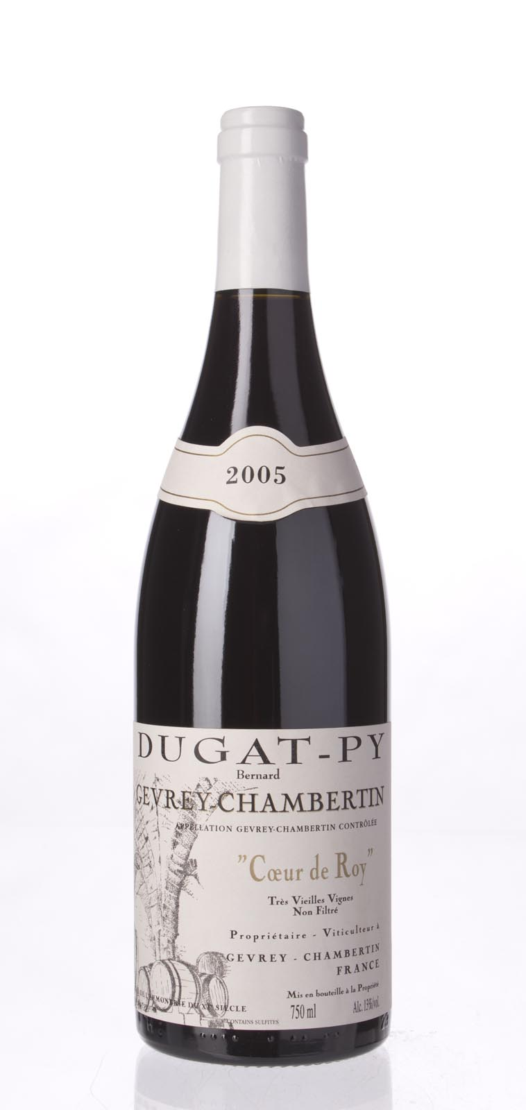 Domaine Dugat Py Gevrey Chambertin Coeur du Roi Tres Vieilles Vignes 2005, 750mL (BH92, WA91-92, ST92) from The BPW - Merchants of rare and fine wines.