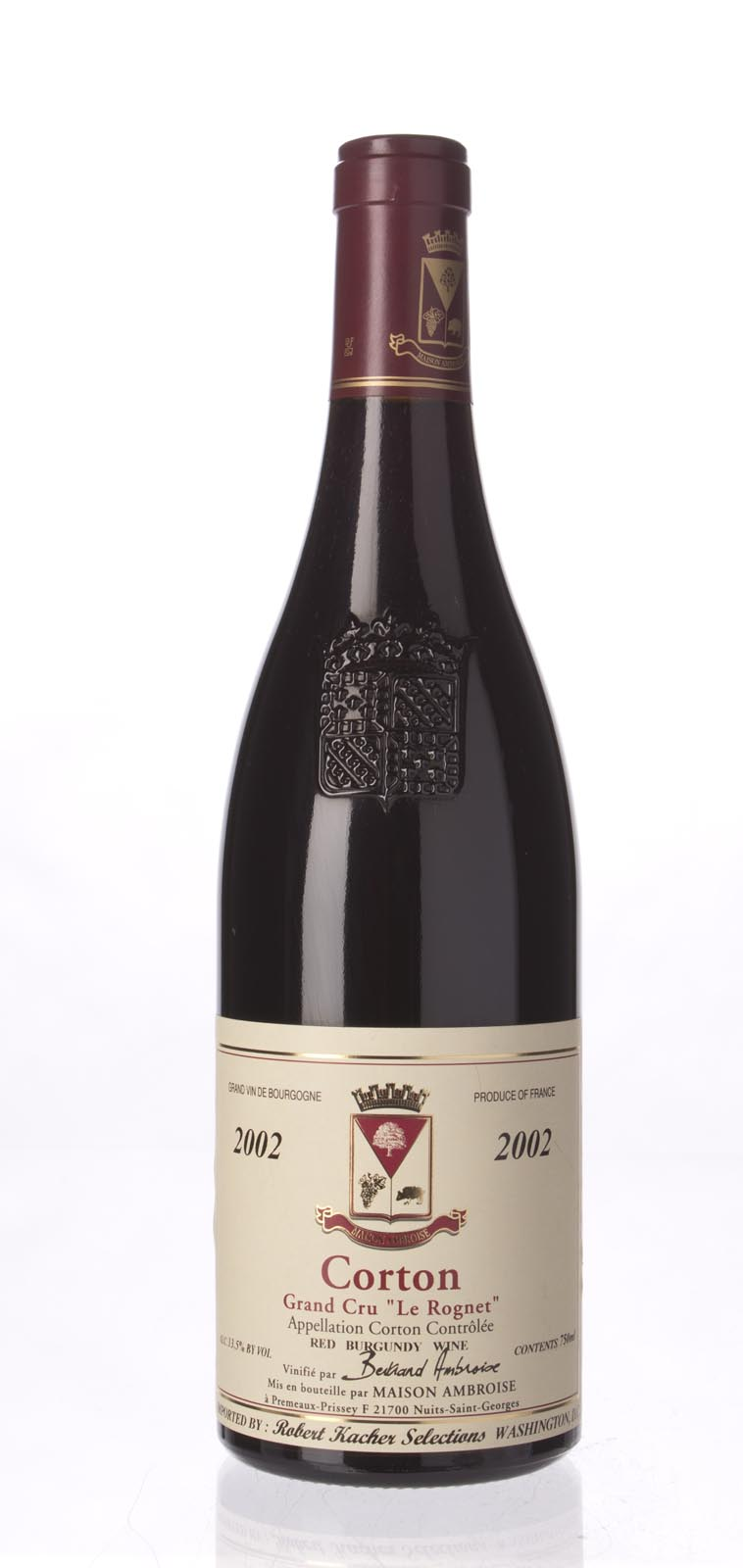 Bertrand Ambroise Corton Rognet 2002, 750mL (WA94-96) from The BPW - Merchants of rare and fine wines.