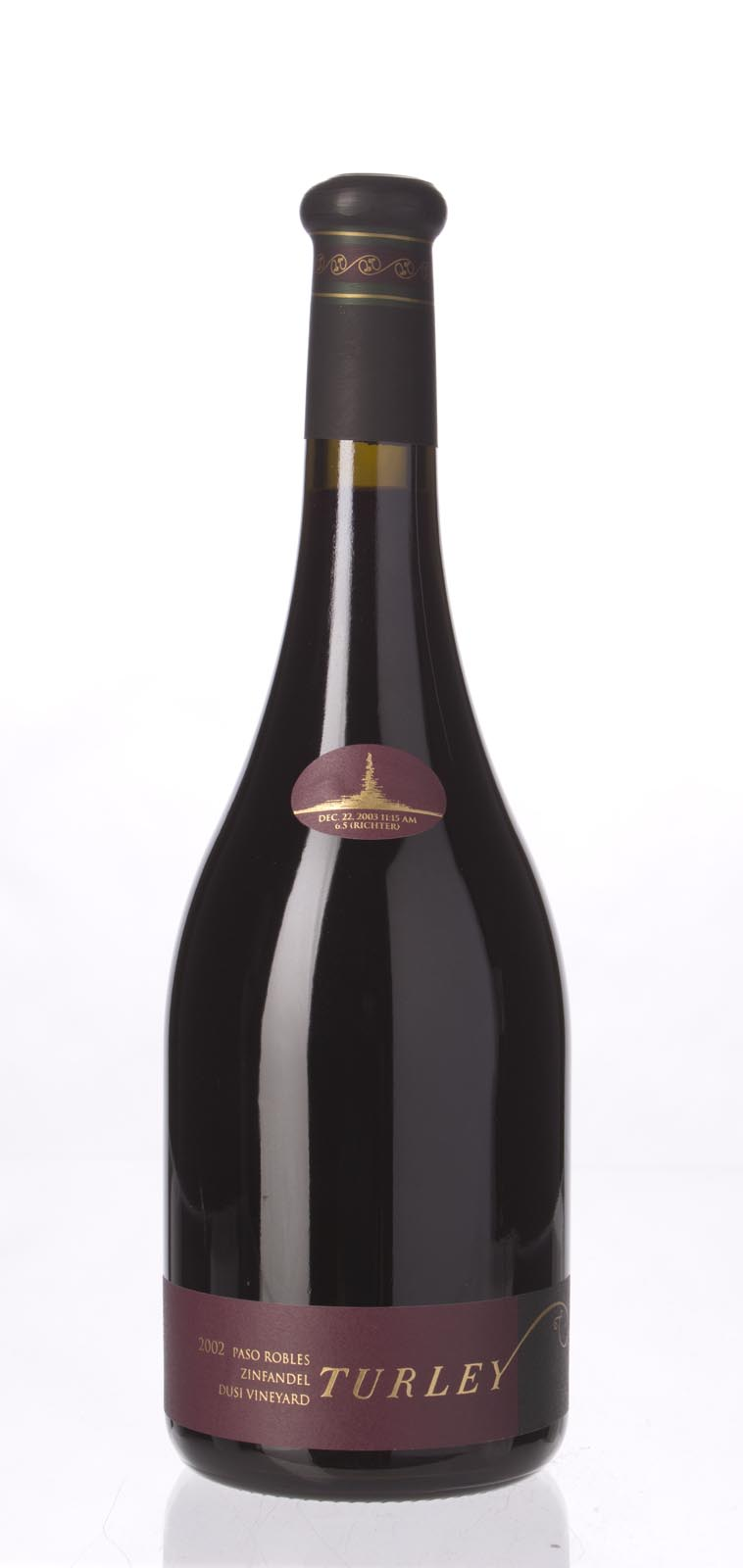 Turley Wine Cellars Zinfandel Dusi Vineyard 2002, 750mL (ST92) from The BPW - Merchants of rare and fine wines.