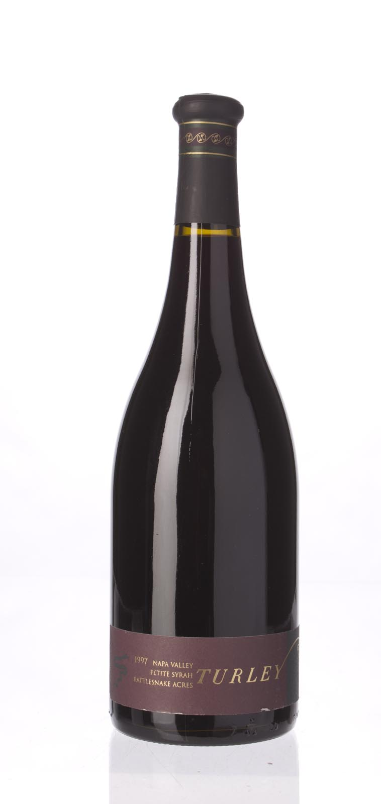 Turley Wine Cellars Petite Sirah Rattlesnake Acres 1997, 750mL (WA91-93, ST91) from The BPW - Merchants of rare and fine wines.