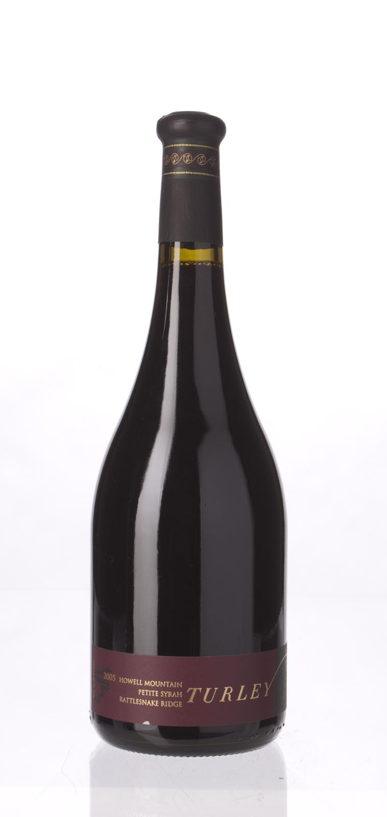 Turley Wine Cellars Petite Sirah Rattlesnake Ridge 2005, 750mL (WA91-93, ST93) from The BPW - Merchants of rare and fine wines.