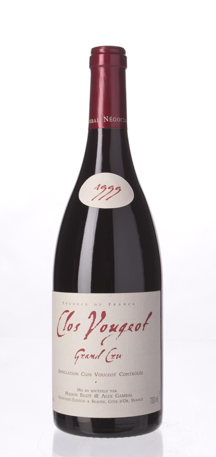 Maison Alex Gambal Clos Vougeot 1999, 750mL (WA91-93) from The BPW - Merchants of rare and fine wines.