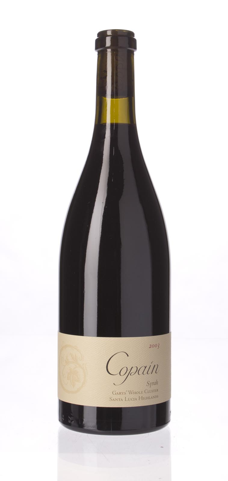 Copain Wines Syrah Garys` Vineyard Whole Cluster 2003, 750ml (WA91-93) from The BPW - Merchants of rare and fine wines.
