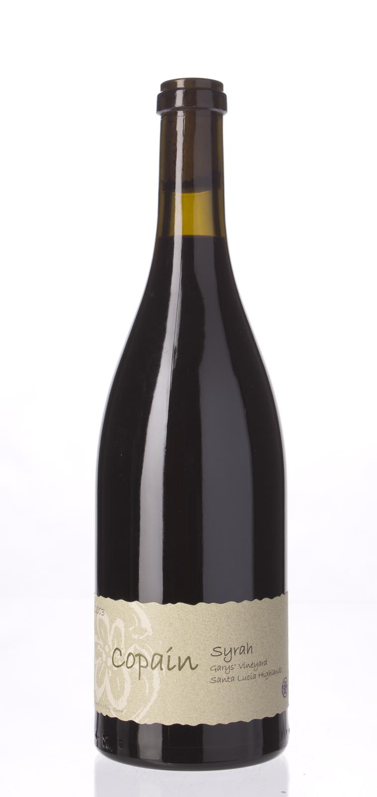 Copain Wines Syrah Garys` Vineyard 2003, 750mL (WA91, ST91) from The BPW - Merchants of rare and fine wines.