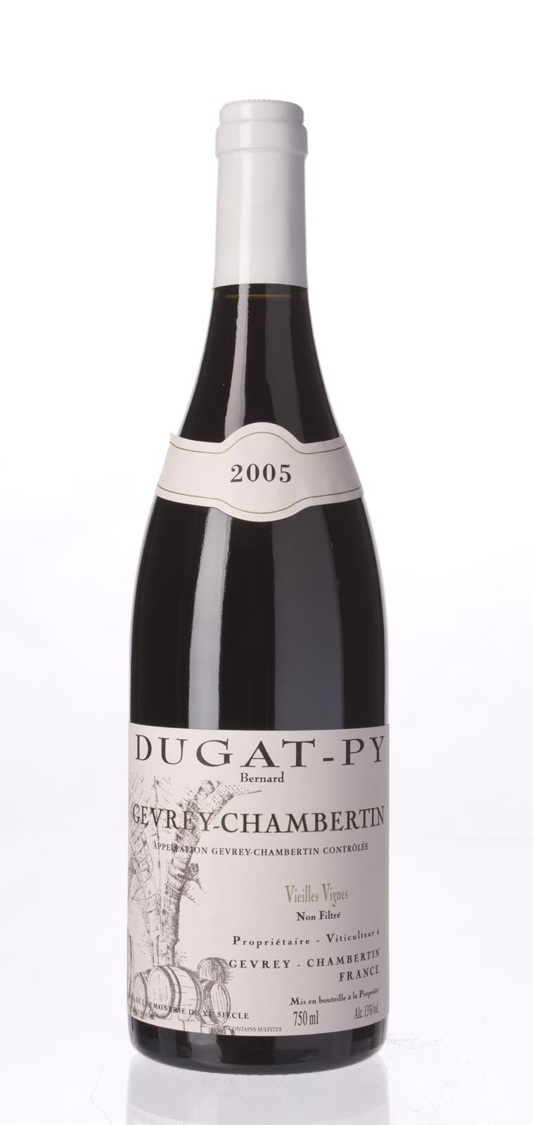 Domaine Dugat Py Gevrey Chambertin Vieilles Vignes 2005, 750ml (WA91, ST91) from The BPW - Merchants of rare and fine wines.