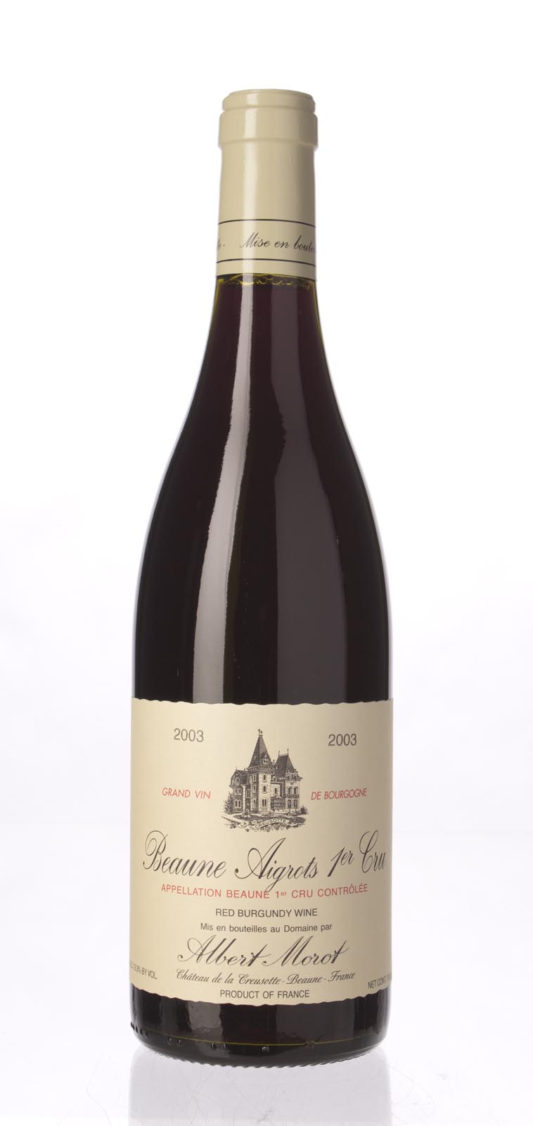 Albert Morot Beaune Aigrots 2003,  (ST88) from The BPW - Merchants of rare and fine wines.