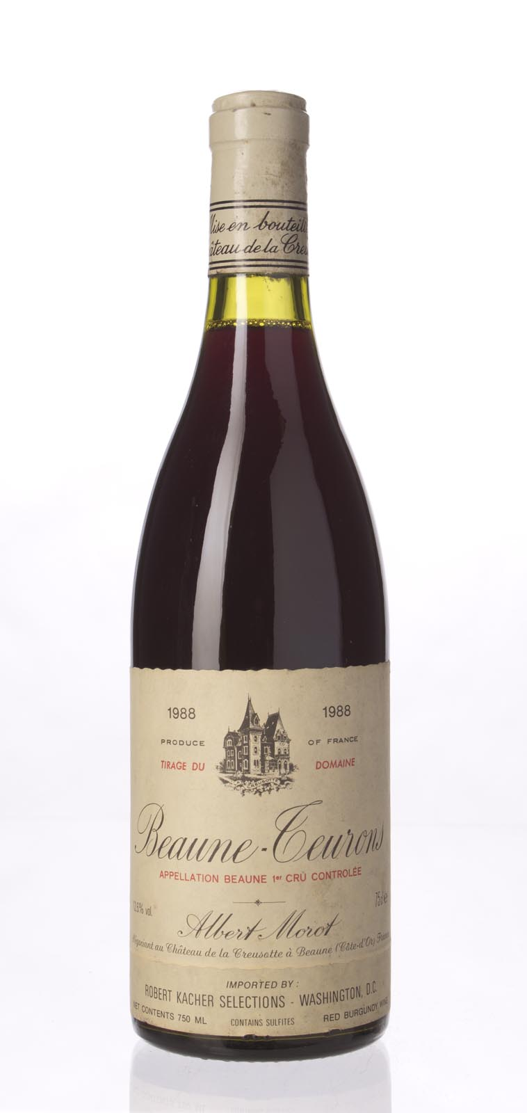 Albert Morot Beaune les Teurons 1988, 750mL (WA89) from The BPW - Merchants of rare and fine wines.