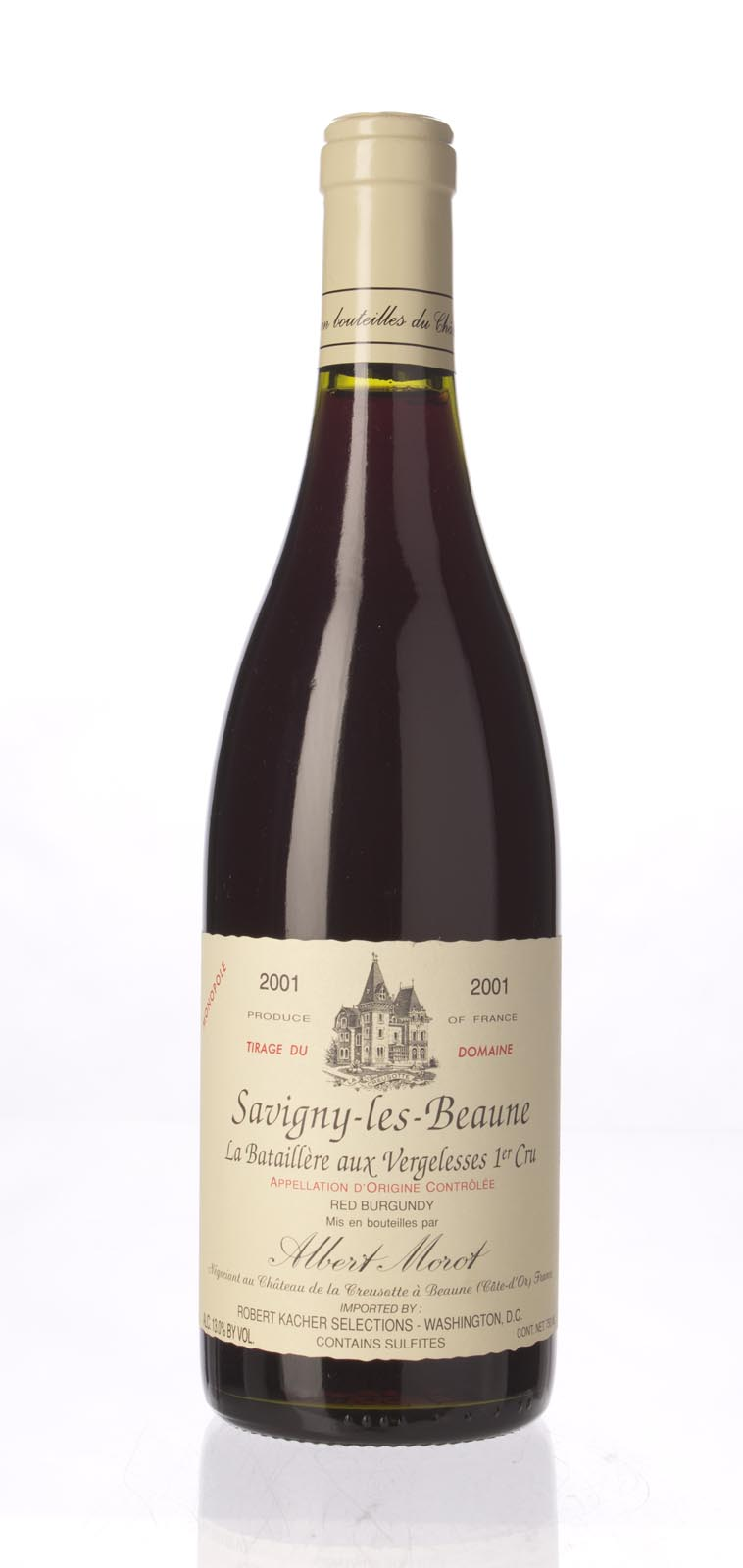Albert Morot Savigny les Beaune les Vergelesses Clos la Batailliere 2001,  () from The BPW - Merchants of rare and fine wines.