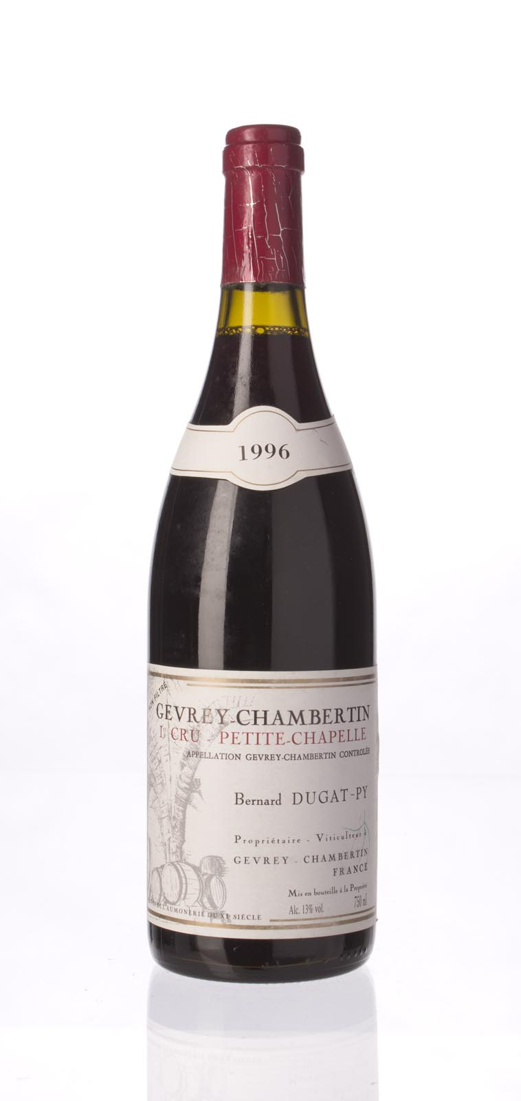 Domaine Dugat Py Gevrey Chambertin Petite Chapelle 1996, 750mL (WA90-92) from The BPW - Merchants of rare and fine wines.