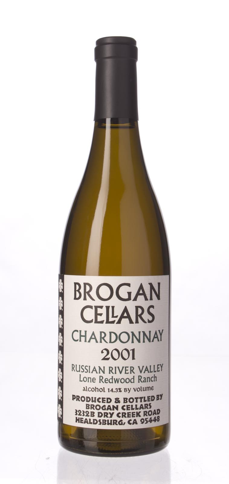 Brogan Cellars Chardonnay Lone Redwood Ranch 2001, 750mL () from The BPW - Merchants of rare and fine wines.