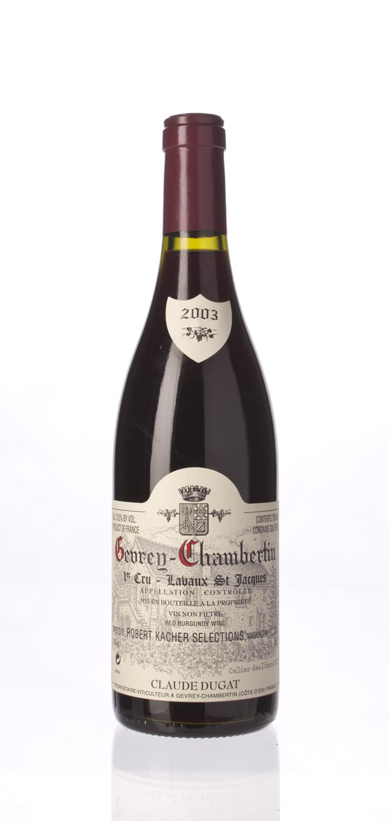 Domaine Claude Dugat Gevrey Chambertin Lavaux St. Jacques 2003,  (ST92) from The BPW - Merchants of rare and fine wines.