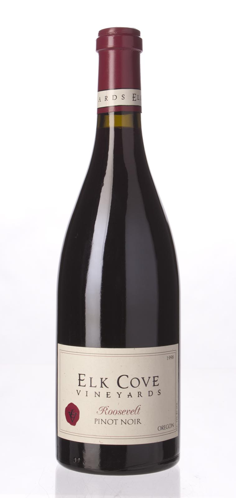 Elk Cove Pinot Noir Roosevelt Vineyard 1998, 750mL (WS91) from The BPW - Merchants of rare and fine wines.