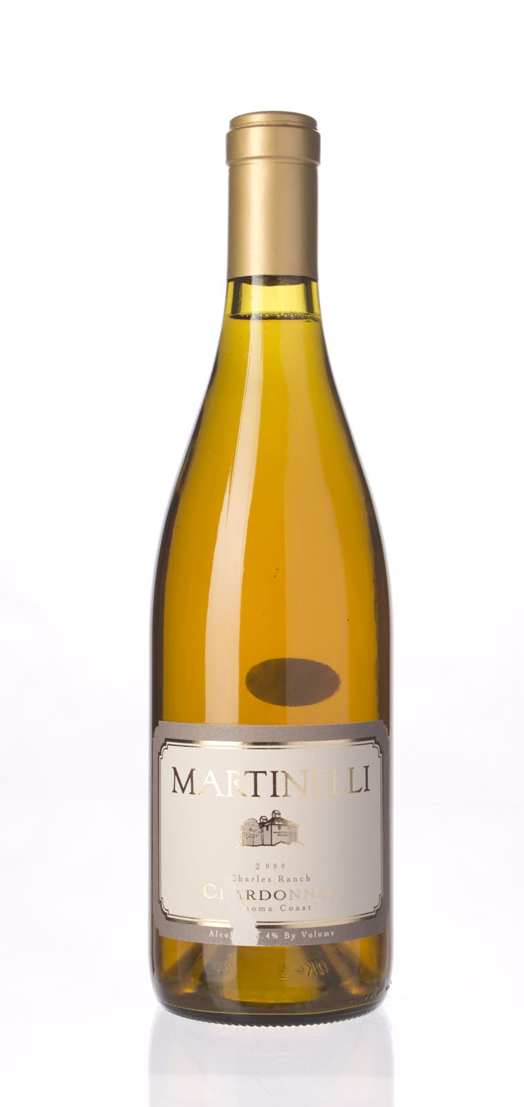 Martinelli Chardonnay Charles Ranch 2000, 750mL (ST90) from The BPW - Merchants of rare and fine wines.