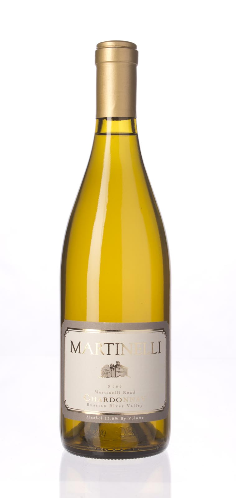 Martinelli Chardonnay Martinelli Road 2000, 750mL (WA90, ST92) from The BPW - Merchants of rare and fine wines.