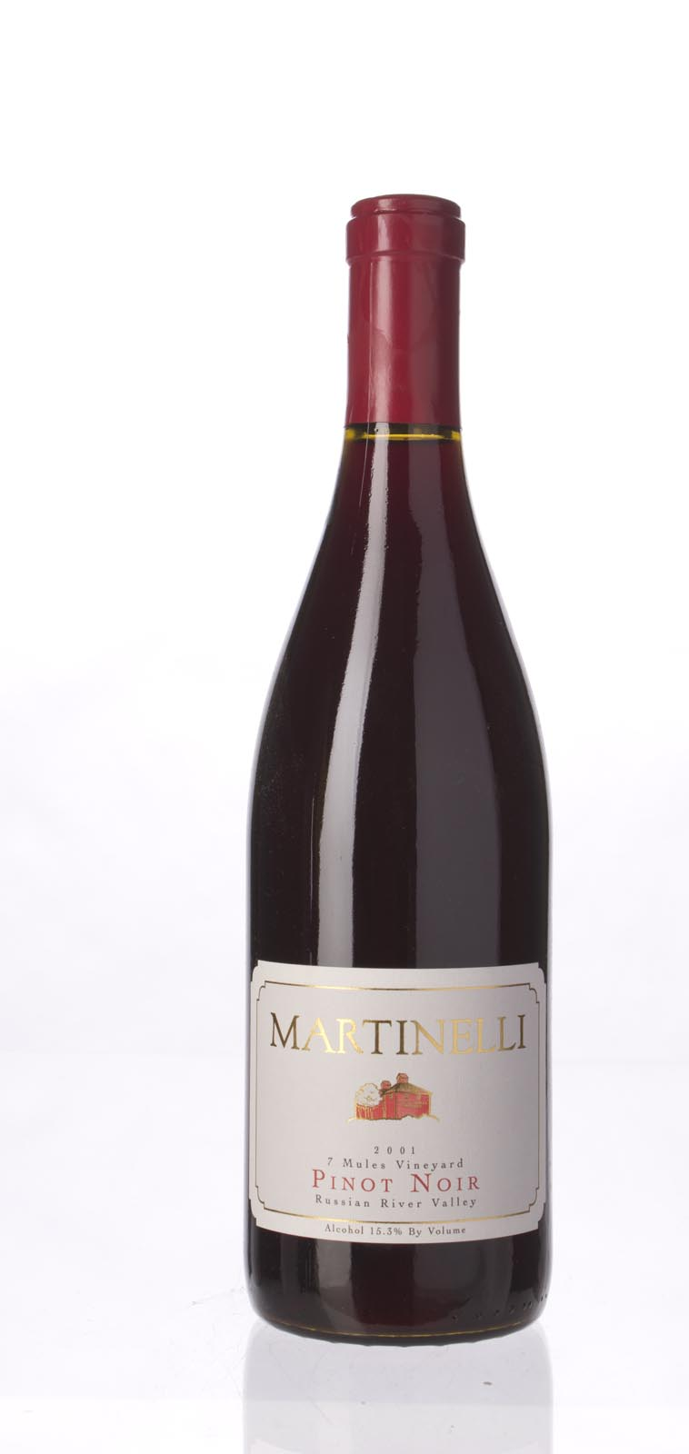 Martinelli Pinot Noir Seven Mules Vineyard 2001, 750mL (WS93) from The BPW - Merchants of rare and fine wines.