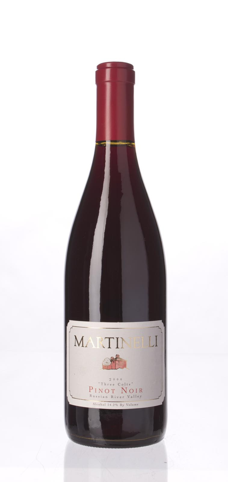 Martinelli Pinot Noir Three Colts Vineyard 2000, 750mL (WA89) from The BPW - Merchants of rare and fine wines.