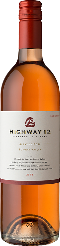 2013 Highway 12 Aleatico Rose Sonoma Valley - Highway 12 Vineyards & Winery