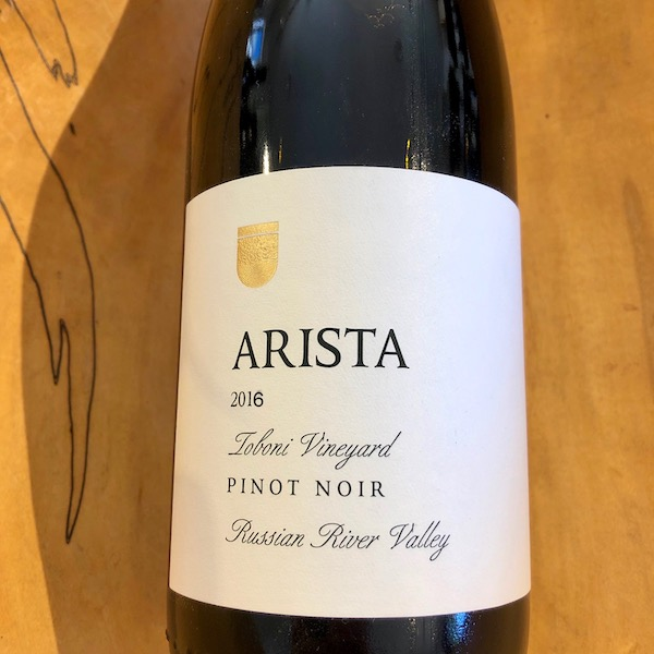 Arista Toboni Vineyard Pinot Noir 2016 - K. Laz Wine Collection